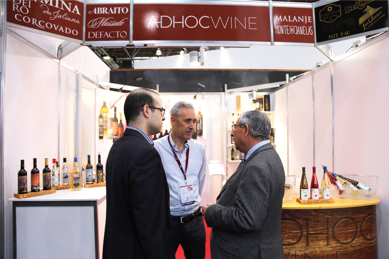 Diogo Caiado, CEO, Luis Rodrigues, Partner & Head of Sales and a friend at PROWEIN, Dusseldorf